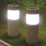 Waterdicht Solar Light Power Stone Pijler LED Licht Lamp Tuin Gazon Binnenplaats Decor_
