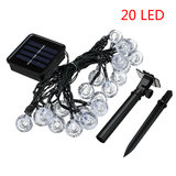 20 LED's Solar String Ball Lights Garden Decor Lamp Outdoor Waterproof Warm White / Multi-Color_