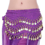 3 Row Belly Dance Heup Rok Sjaal Riem Taille Band Dance Performance Supplies_