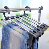 Stainless Steel Multifunctionele Retractable Broeken Hanger Jeans Holder_