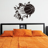 Honana 3D Verwijderbare Vinyl Muursticker Basketbal Busting Through Muurtattoo PVC Art Decor Voor Mand Fans & Jongens Slaapkamer decoratie_