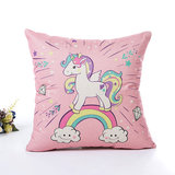 Unicorn Pillow Case Polyester Home Throw Pillows Soft Decorative Cushion Cover For Sofa Chair Pillow Cover_