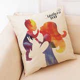 Honana Mother's Day Pattern Cotton Linen Throw Pillow Cushion Cover Car Home Sofa Decorative Pillowcase_