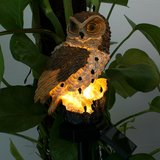Zonne-energie Uil LED gazon Lamp tuin Decor waterdicht landschap licht_