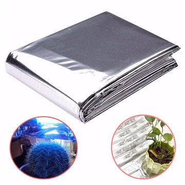 82x51 inch zilver Plant reflecterende folie Grow Light accessoires Greenhouse reflectiecoating