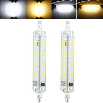 R7S 118MM 10W 152 SMD 4014 LED Zuiver Wit Warm Wit Licht Lamp Bulb AC110V