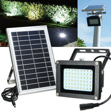 Solar Powered 54 LED Waterproof Outdoor Security Panel Flood Light Billboard Tuin Lamp