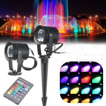 16Colors 10W Waterdichte LED RGB Flood Spot Lawn Light Spotlight lamp AC85-265V + Remote