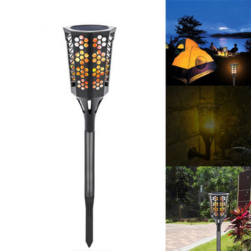 Zonne-energie 96 LED Flame Gazon Licht Outdoor Waterdichte IP65 Tuinpad Wandlamp Lamp