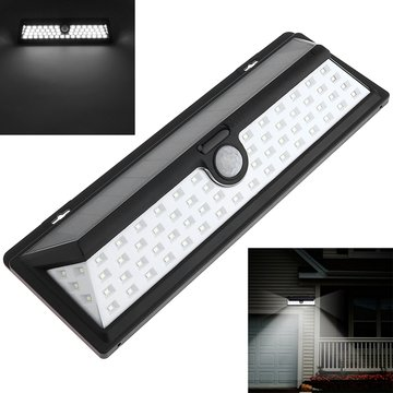 Zonne-energie 66 LED Bewegingsensor Wall Light Waterproof Wide Angle Ourdoor Garden Security Lamp