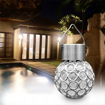 Solar Hanging LED Plastic Ball Bulb Kleurrijke / Pure White Outdoor Garden Yard Pad Landschap Decor