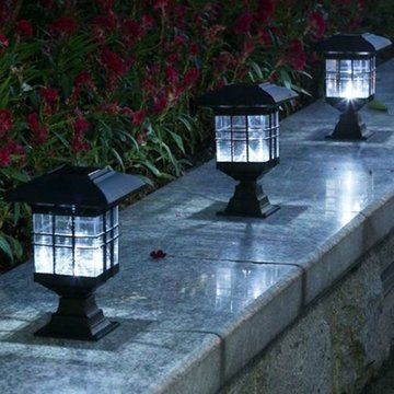 LED zonne-energie Outdoor Tuin Yard Licht Gazonpad Landschap Lamp Decor