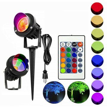 10 W RGB LED Flood Spot Light Waterdichte Outdoor Tuin Landschap Path Lawn Lamp AC85-265V