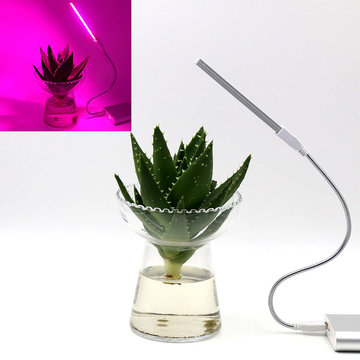 5V 2.5W 10 rood 4 blauw draagbaar USB LED Plant Grow Lamp voor Home Office Garden Greenhouse