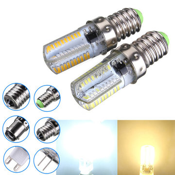 Dimbaar E14 3W Wit / Warm Wit 3014SMD LED Bulb Silicone 220-240V