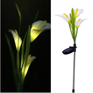 Zonne-energie Lily Flower Garden Stake landschap Lamp Outdoor Yard LED Light Decor