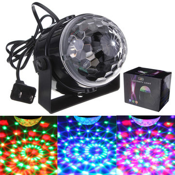 Mini RGB LED Party Disco Club DJ Light Crystal Magic Ball Effect Stage Light