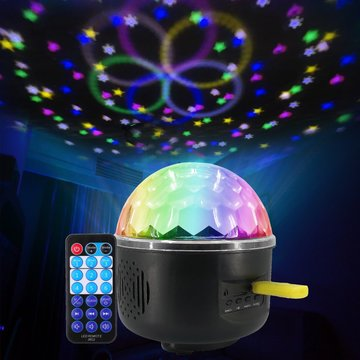 Afstandsbediening Crystal Magic Ball 6 LED Stage Light Party Disco DJ Club KTV