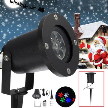 12W waterdicht Colorful Sneeuwvlok LED Laser Stage Light Projector Lamp voor Kerstmis Outdoor