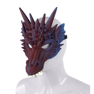 3D Animal Dragon Horror Mask Props Halloween Carnaval Halloween Party Cosplay