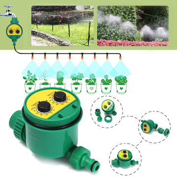 Tuinirrigatiecontroller Twee Dial Electronic Water Timer Home Plant Bloem