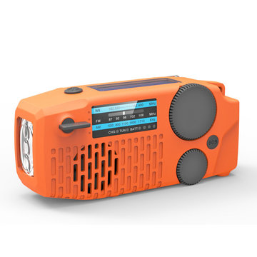 3in1 Emergency Hand Crank Self Powered AM / FM / WB NOAA Solar Radio + Krachtige Camping Zaklamp + Power Bank voor telefoon