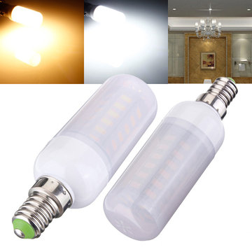 E14 5W 48 SMD 5730 AC 220V LED-gloeilampen Met Frosted Cover