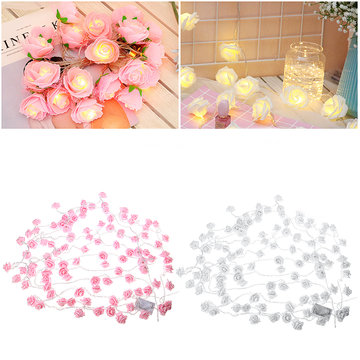 3M 5M 10M Elektrische LED Rose String Light Warm White Home Lamp Voor Garden Party Wedding Decoration 220V
