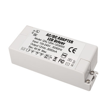 AC100-240V Naar DC12V 5A 60W LED Power Supply Lighting Transformer Adapter Driver voor Strip Light Lamp