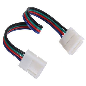 Led-to-led connector 4-pins draad voor 10mm breedte RGB 5050 Strip