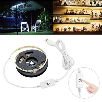 Waterdichte USB Powered 2M LED Strip Light met Touch Dimmer Switch voor Outdoor Home Decoration DC5V