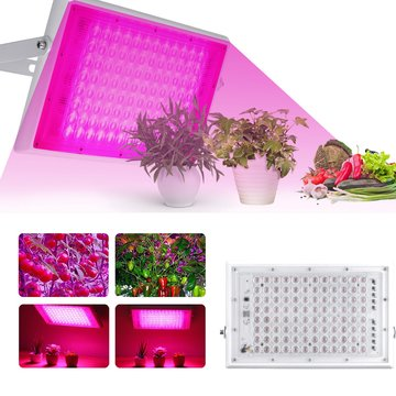 100W Full Spectrum LED Grow Light Hydroponic Indoor Plant Growing Panel Lamp AC220V