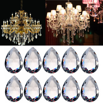 10PCS Clear Chandelier Glass Crystal Lighting Prisms Hangende Drops Hangers 38MM