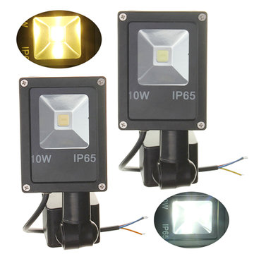 12V 10W PIR Motion Sensor LED Flood Light IP65 Warm / Koud Wit Licht