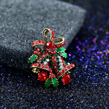 Mode 2017 Kerstcadeaus Broches Rhinestone Broche