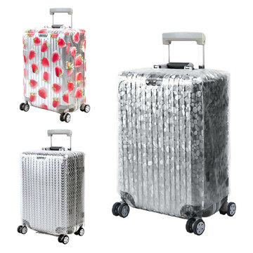 Honana PVC Transparante Clear Waterdichte Bagage Cover Trolley Case Cover Duurzaam Koffer Protector voor 20-28 Inch Case Regen Dag Reizen accessoires
