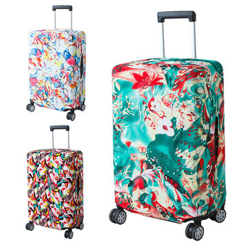 Honana Abstraction Elastische Bagage Cover Trolley Case Cover Duurzaam Koffer Protector voor 22-28 Inch Case Warme Reizen Accessoires