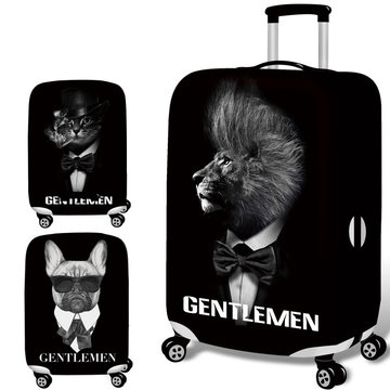 Honana 3D Cool Black Cat Lion Elastische Bagage Cover Trolley Case Cover Duurzaam Koffer Protector voor 18-32 Inch Case Warme reizen accessoires