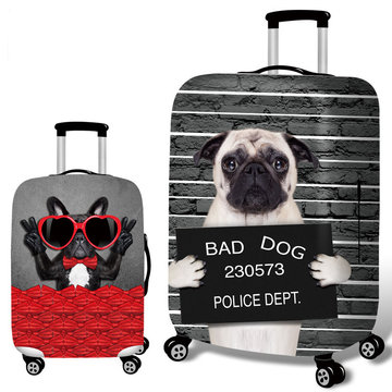 Honana 3D Spoof Hond Elastische Bagage Cover Trolley Case Cover Duurzaam Koffer Protector voor 18-32 Inch Case Warme reizen Accessoires