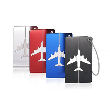 KCASA KC-LP07 Metal Travel Kofferlabels Steel Loop Suitcase Bag Labels Adres Privacy Cover