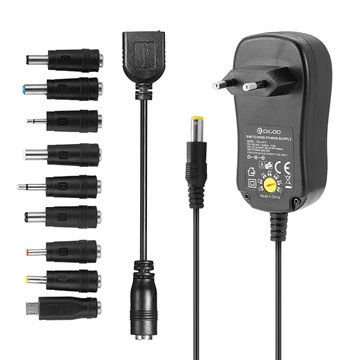 499.987435.6373-12VUniversele10Selecteerbare Lader Adapter Multi Voltage Switching Micro USB Plug Voeding