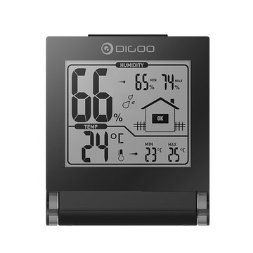 Digoo DG-TH1117 Home Comfort Opvouwbare mini-inklapbare digitale indoor hygrometer temperatuurmonitor