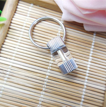 1.5x6mm Tritium Tube Metallic verticale strepen Self-lichtgevende 15 Years Keychain
