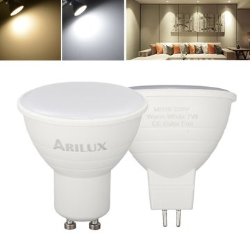 ARILUX® GU10 MR16 7 W SMD2835 474LM Puur Wit Warm Wit LED Corn Spotlight Bulb voor Thuis AC220V