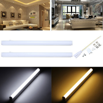30cm 5W 440LM SMD2835 T5 LED Fluorescent Tube Light Met Switch Warm / Pure White AC85-265V