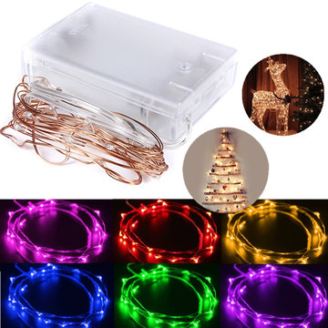 2M 20 LED Koper Wire Starry Lights String Fairy Battery Powered Decor