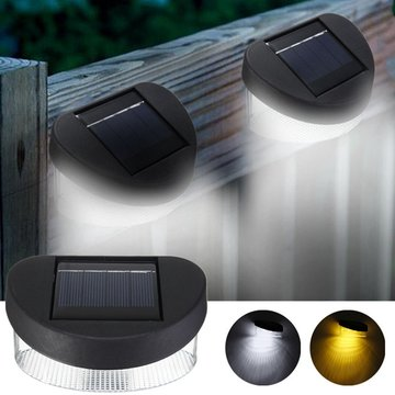 Solar Power 8 LED Wall Light buiten waterdichte IP65 Omheining van de tuin Lamp