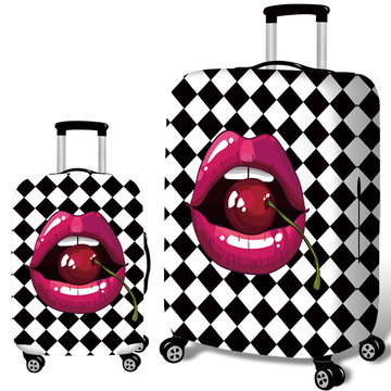 Honana Cherry Lippen Elastische Bagage Cover Trolley Case Cover Duurzame Koffer Protector voor 18-32 Inch Case Warme reizen accessoires
