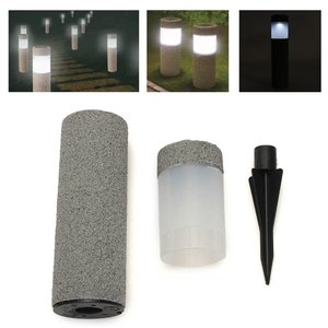 Waterdicht Solar Light Power Stone Pijler LED Licht Lamp Tuin Gazon Binnenplaats Decor