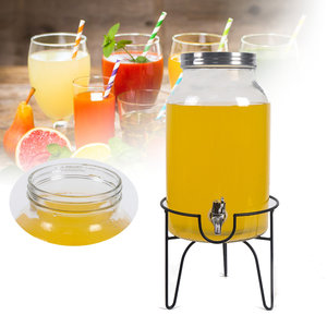 5.5L Drank Dispenser en Stand Drank Water Juice Detox Glazen Pot